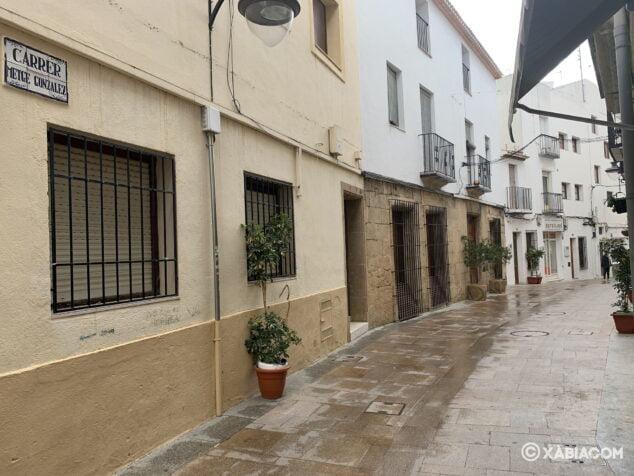 Imagen: Calle de Xàbia durante el confinamiento