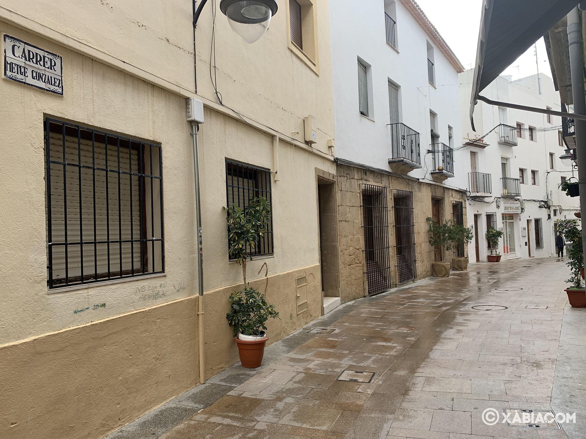 Calle de Xàbia durante el confinamiento