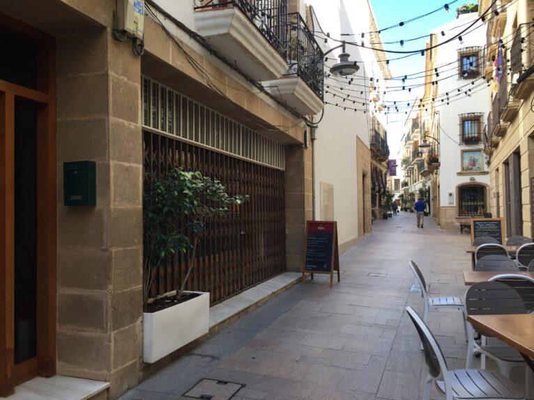 Calle Mayor de Xàbia