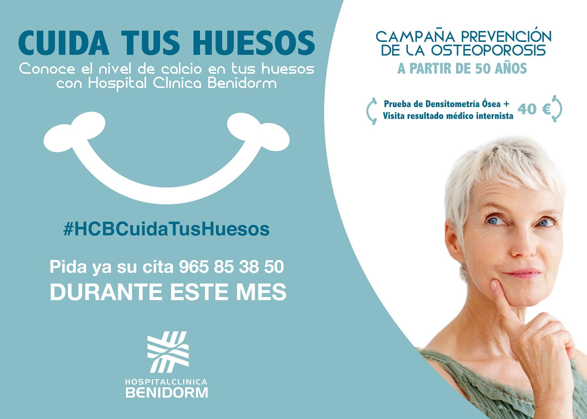 Campaña para la prevención de la osteoporosis – Hospital Clínica Benidorm (HCB)