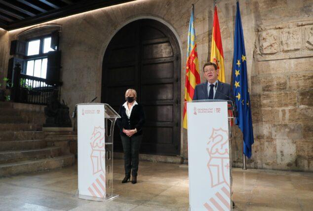 Imagen: Comparecencia Ximo Puig y Ana Barceló