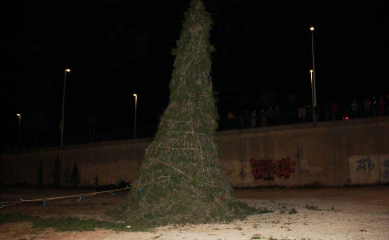 Cremà del pi de Sant Antoni en Xàbia