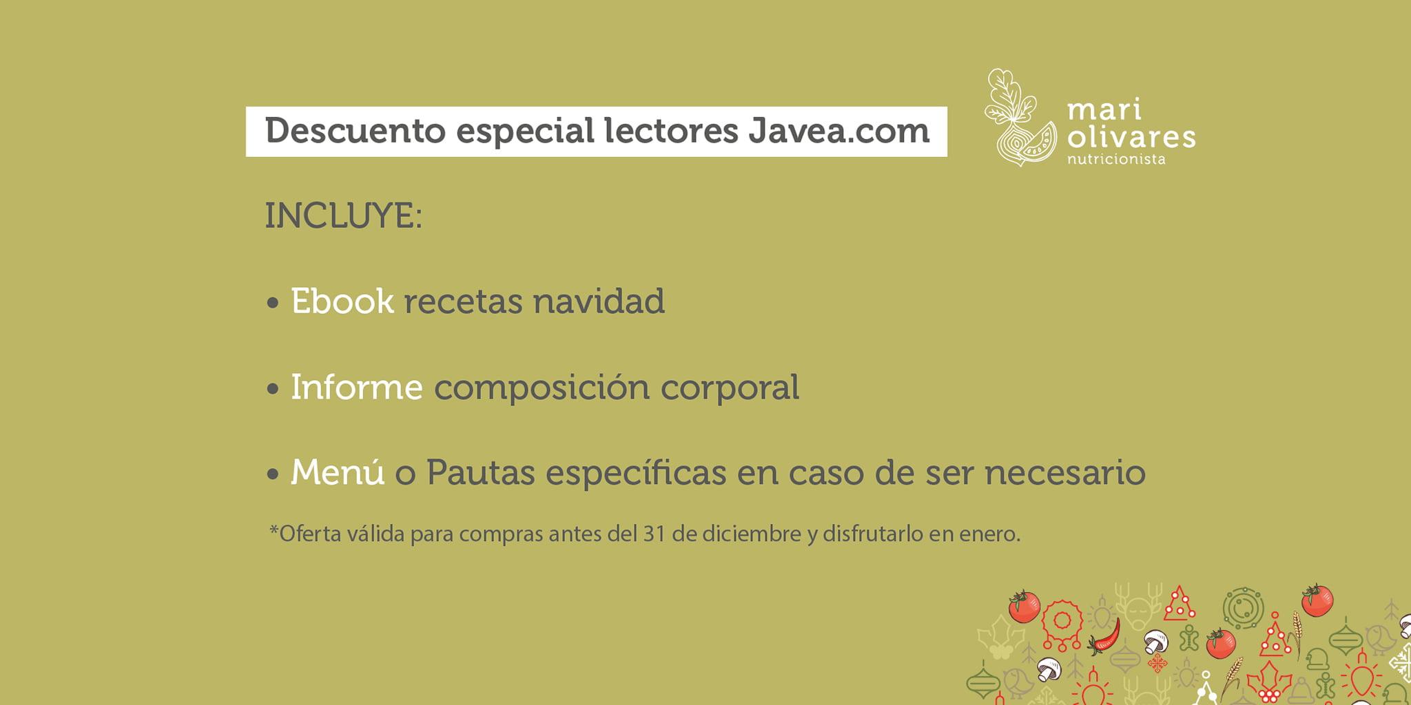 Descuento especial para los lectores de Jávea.com – Dietista-Nutricionista Mari Olivares