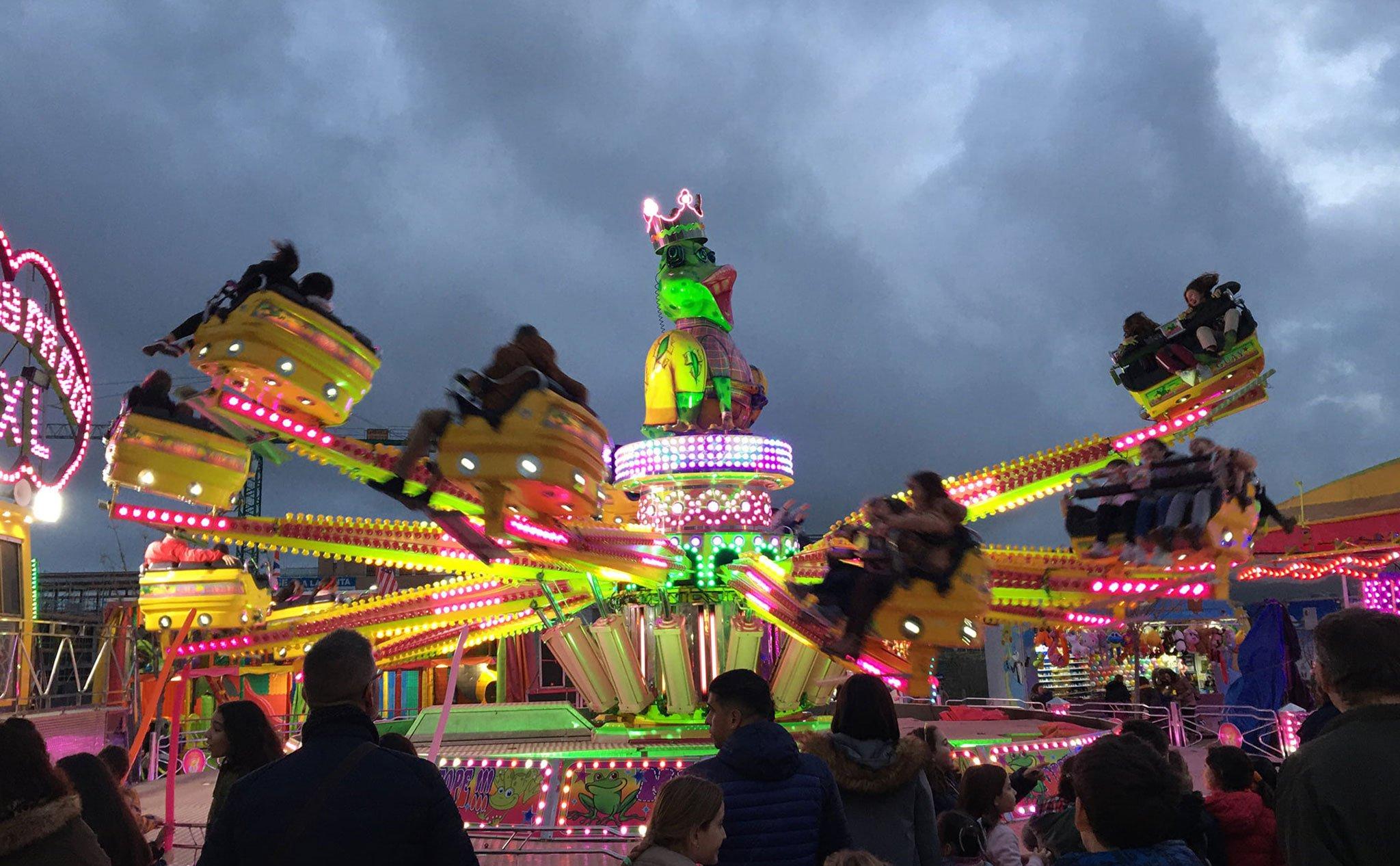 Feria de atracciones en Jávea