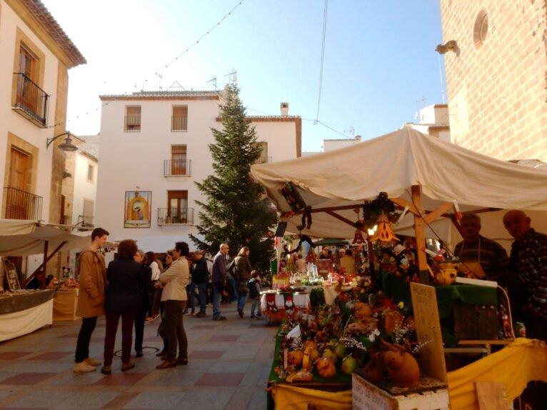 Foto de archivo del Mercat de Nadal de Xàbia Histórica