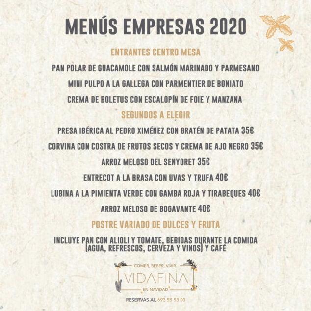 Imagen: Menú para empresas en Jávea - VidaFina