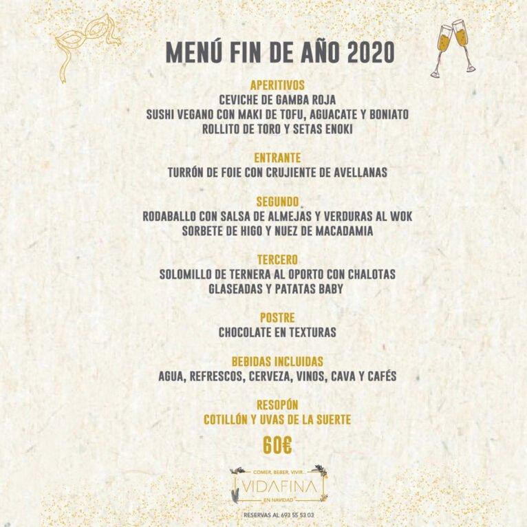 Menú fin de año 2020 en Jávea - VidaFina