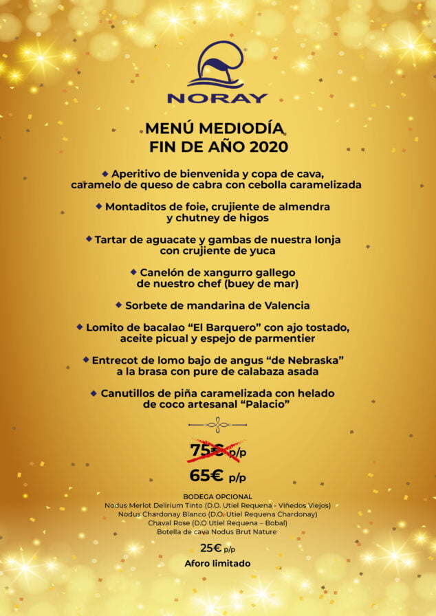 Image: Noray Restaurant Menu New Year's Eve at noon