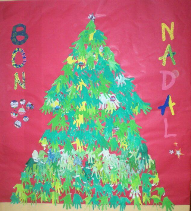 Imagen: Mural del CEIP Port de Xàbia de Navidad 2011