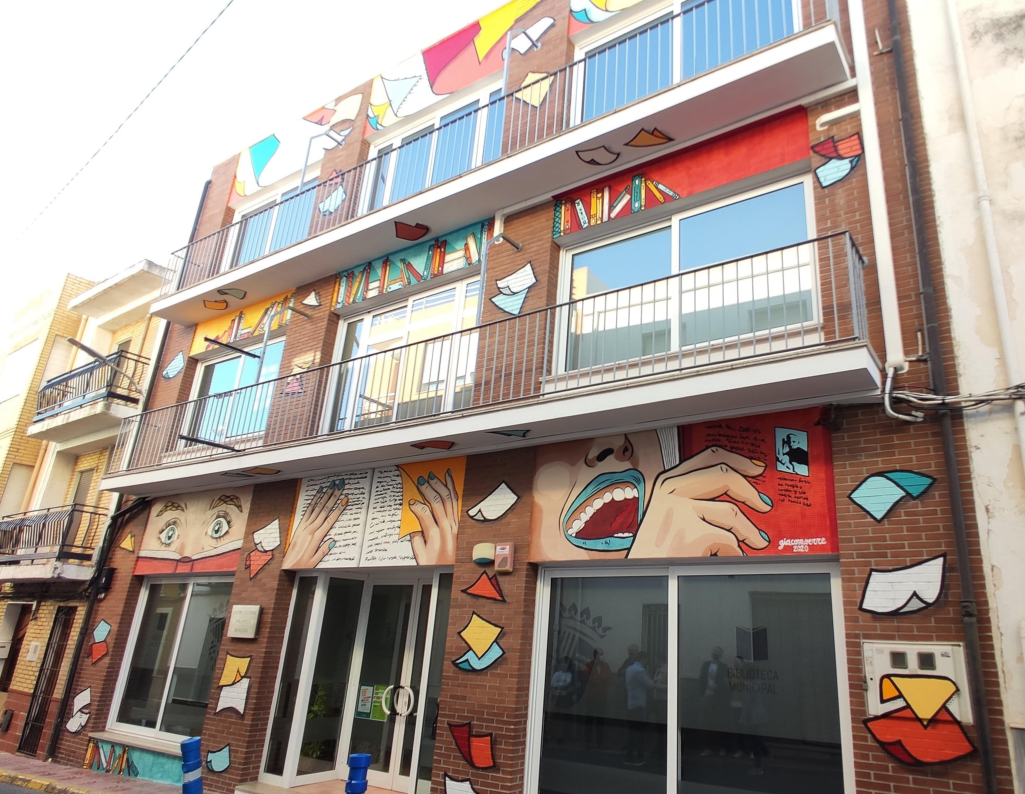 Nueva fachada de la Biblioteca de Benitatxell