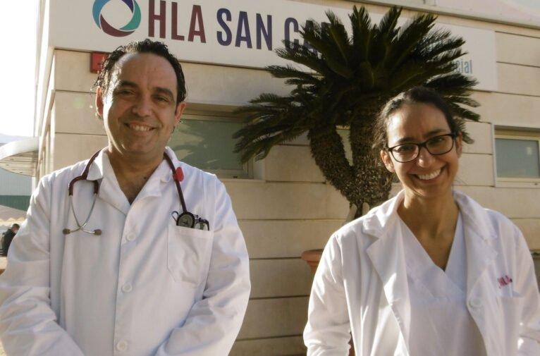 Dr. Vanyo y Dra. Abataneo. Nuevos especialistas internistas del hospital HLA San Carlos