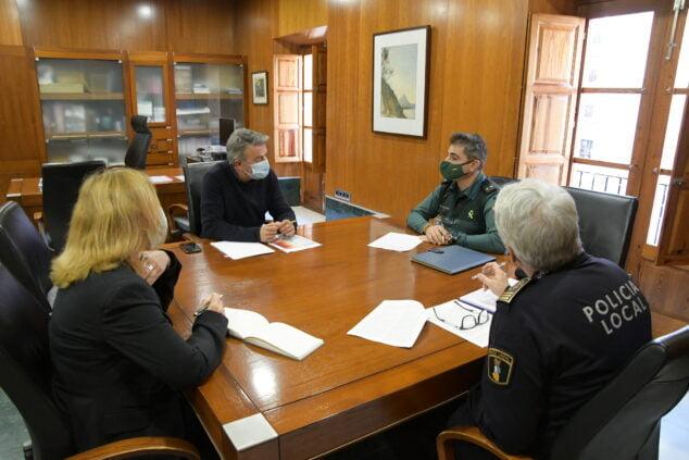 Imagen: Reunión de coordinación de las Fuerzas de Seguridad