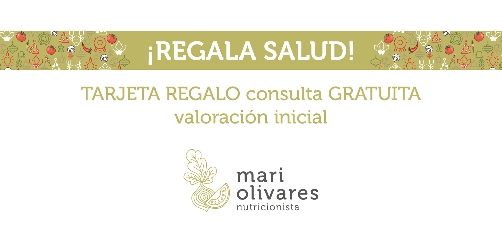 Tarjeta regalo consulta inicial – Dietista-Nutricionista Mari Olivares