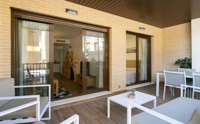 Terraza de un apartamento de vacaciones en Jávea - Quality Rent a Villa