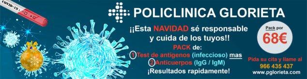 Imagen: Pack de test de anticuerpos y test de antígenos en Policlínica Glorieta