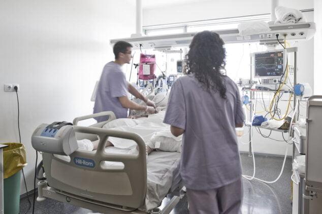 Imagen: Unidad de cuidados intensivos del hospital de Dénia