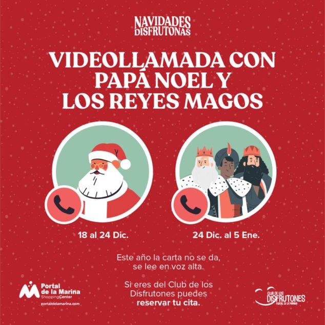 Imagen: Videollamadas con Papá Noel y los Reyes Magos en Portal de la Marina