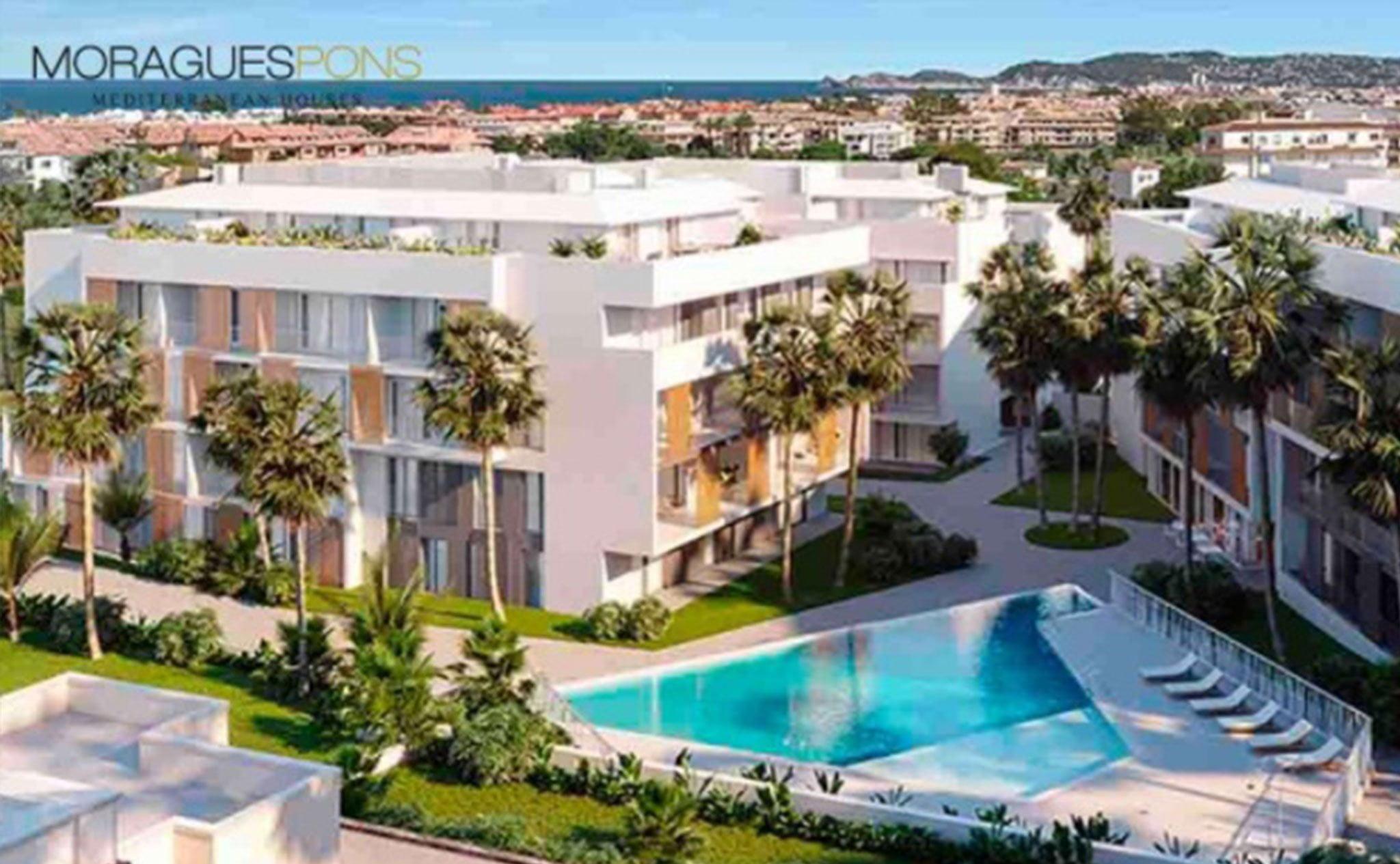 Vista general del Residencial Unic, obra nueva en Jávea – MORAGUESPONS Mediterranean Houses