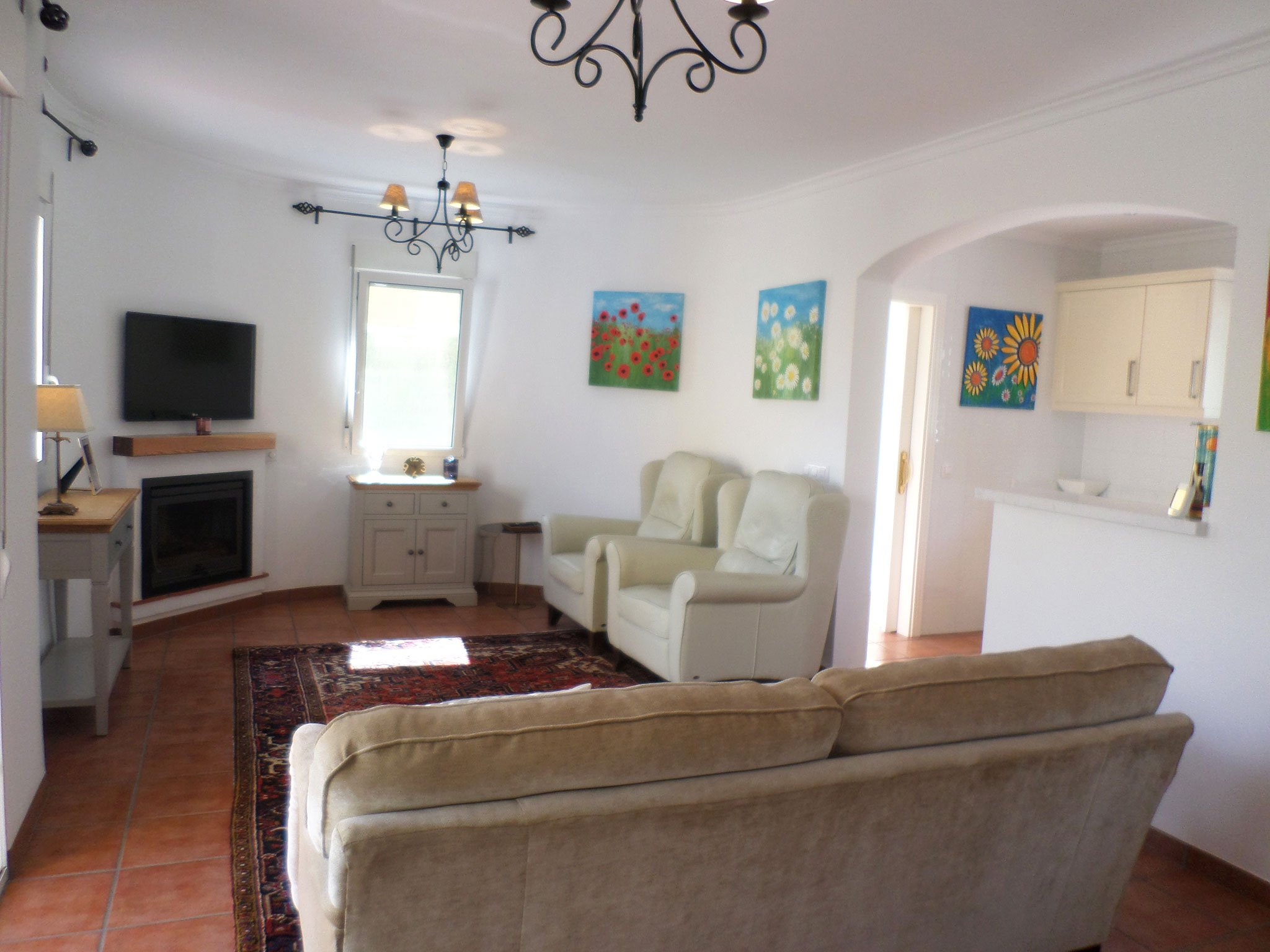 Vista del salón de un bungalow en venta en La Sella – Promociones Denia S.L.