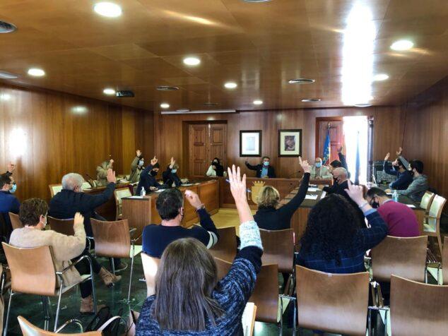 Imagen: Votación en el pleno
