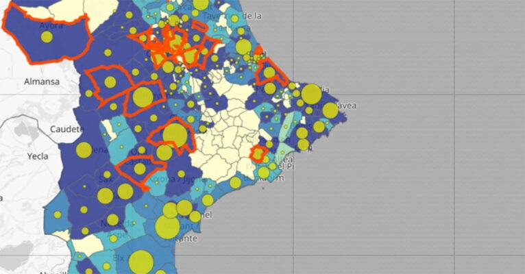 Actualización de coronavirus por municipio del 8 de enero