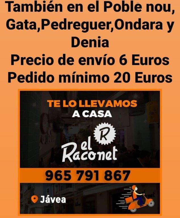 Imagen: Servicio a domicilio de El Raconet