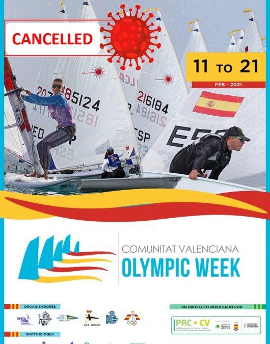 Imagen: Cancelación de la Olympic Week de la Comunitat Valenciana