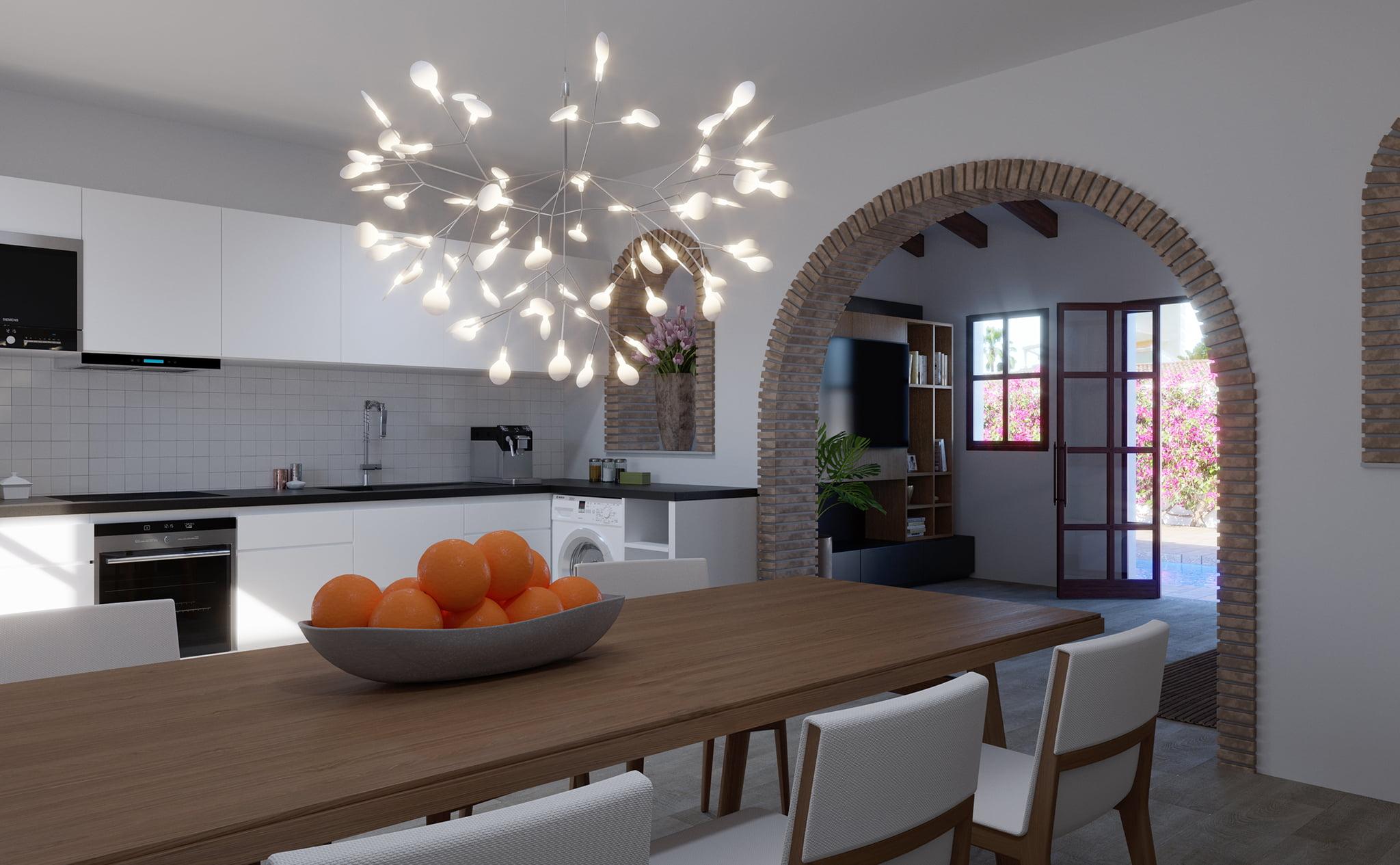 Cocina de un chalet en venta en Dénia, en Les Marines – Lucas Graf Projects