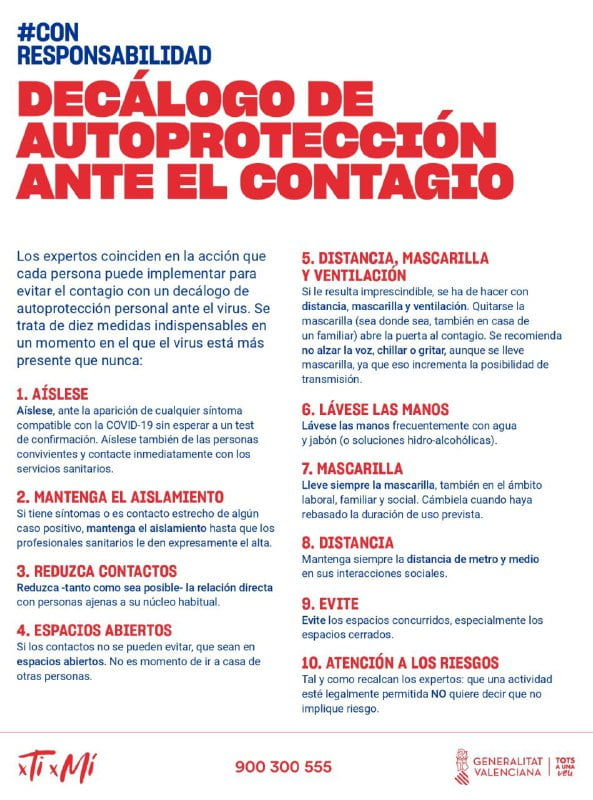 Imagen: Décalogo de autoprotección
