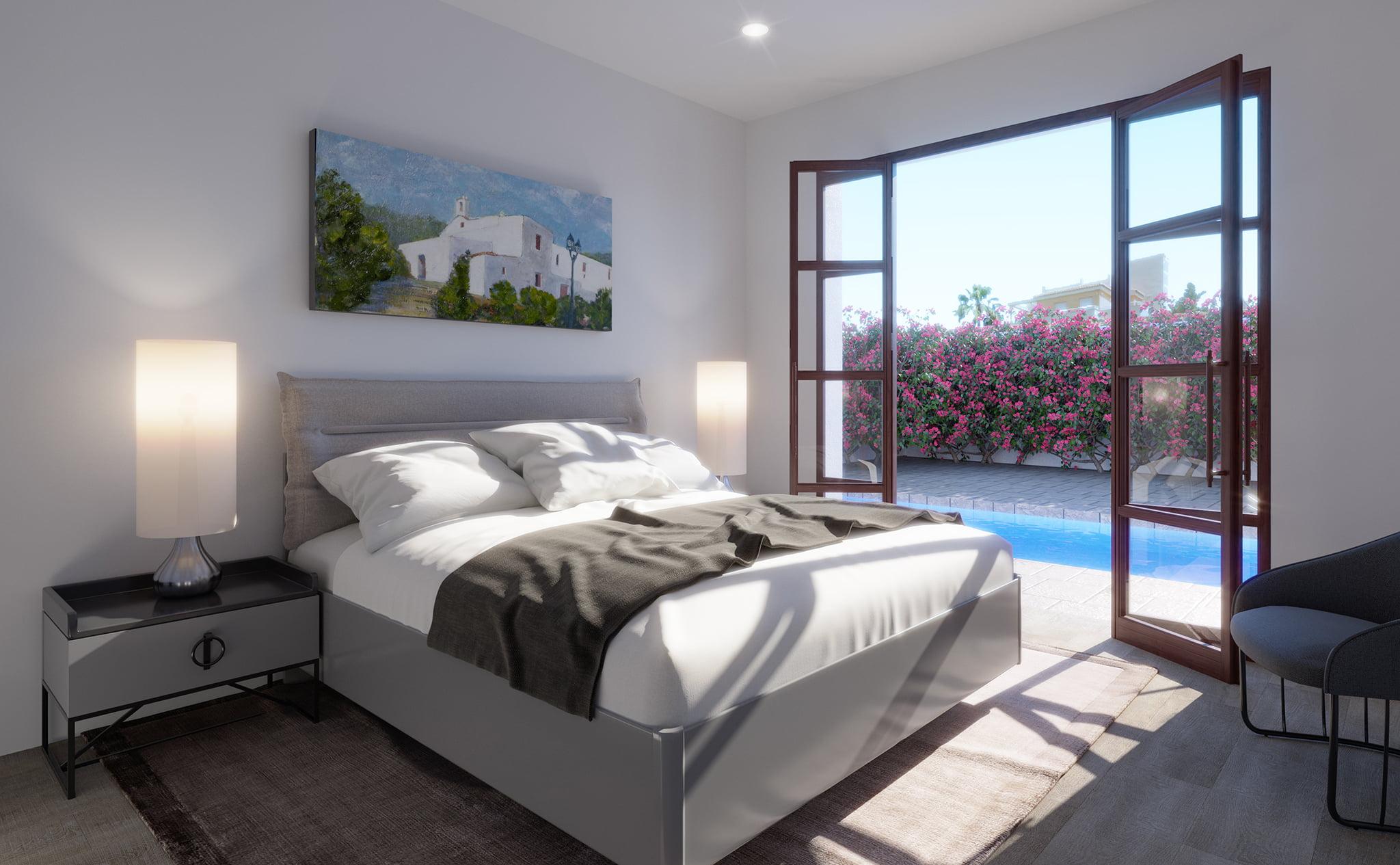 Habitación de un chalet en venta en Dénia, en Les Marines – Lucas Graf Projects