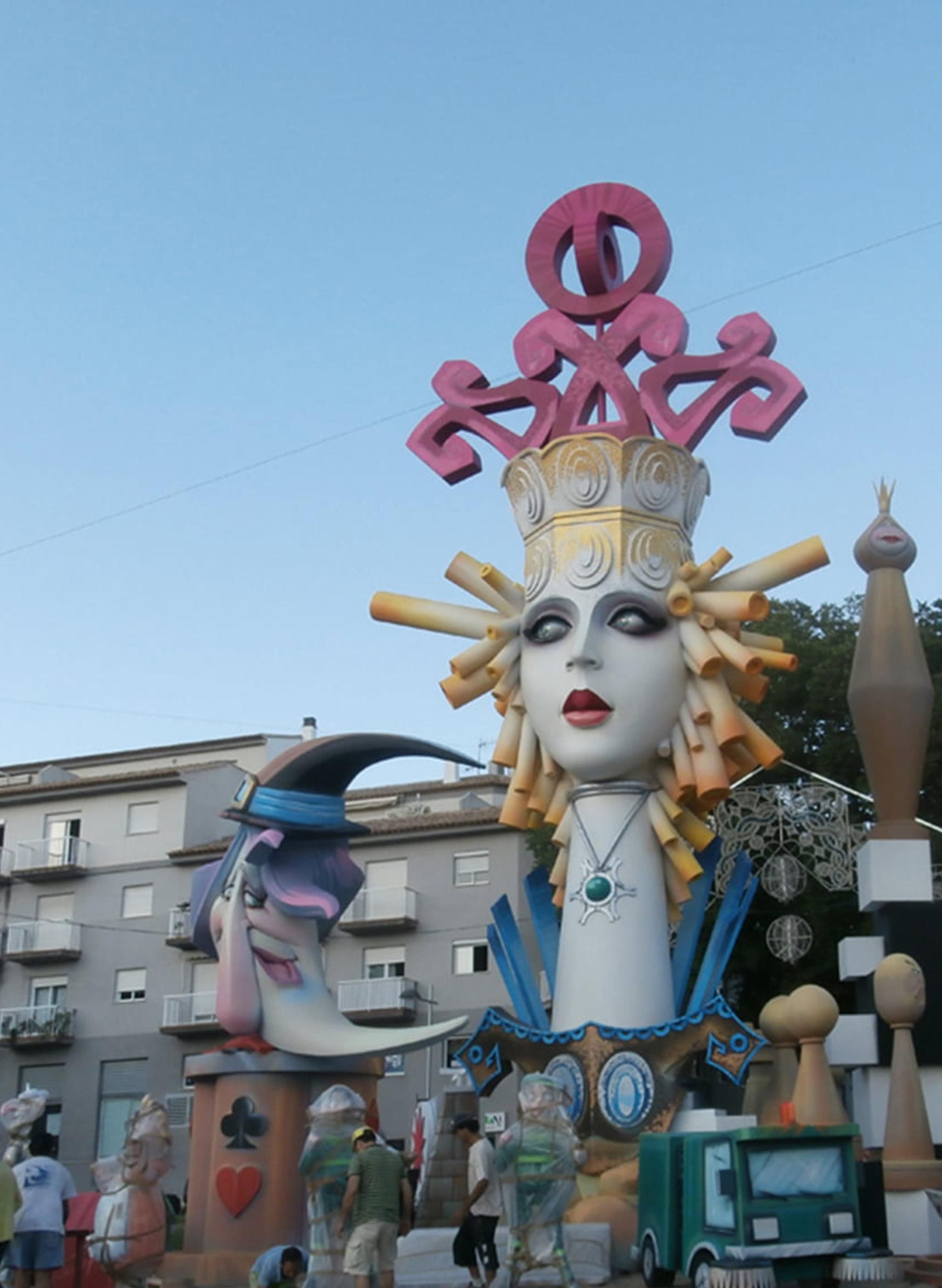 Hoguera Central de las fiestas de San Juan (Año 2013)
