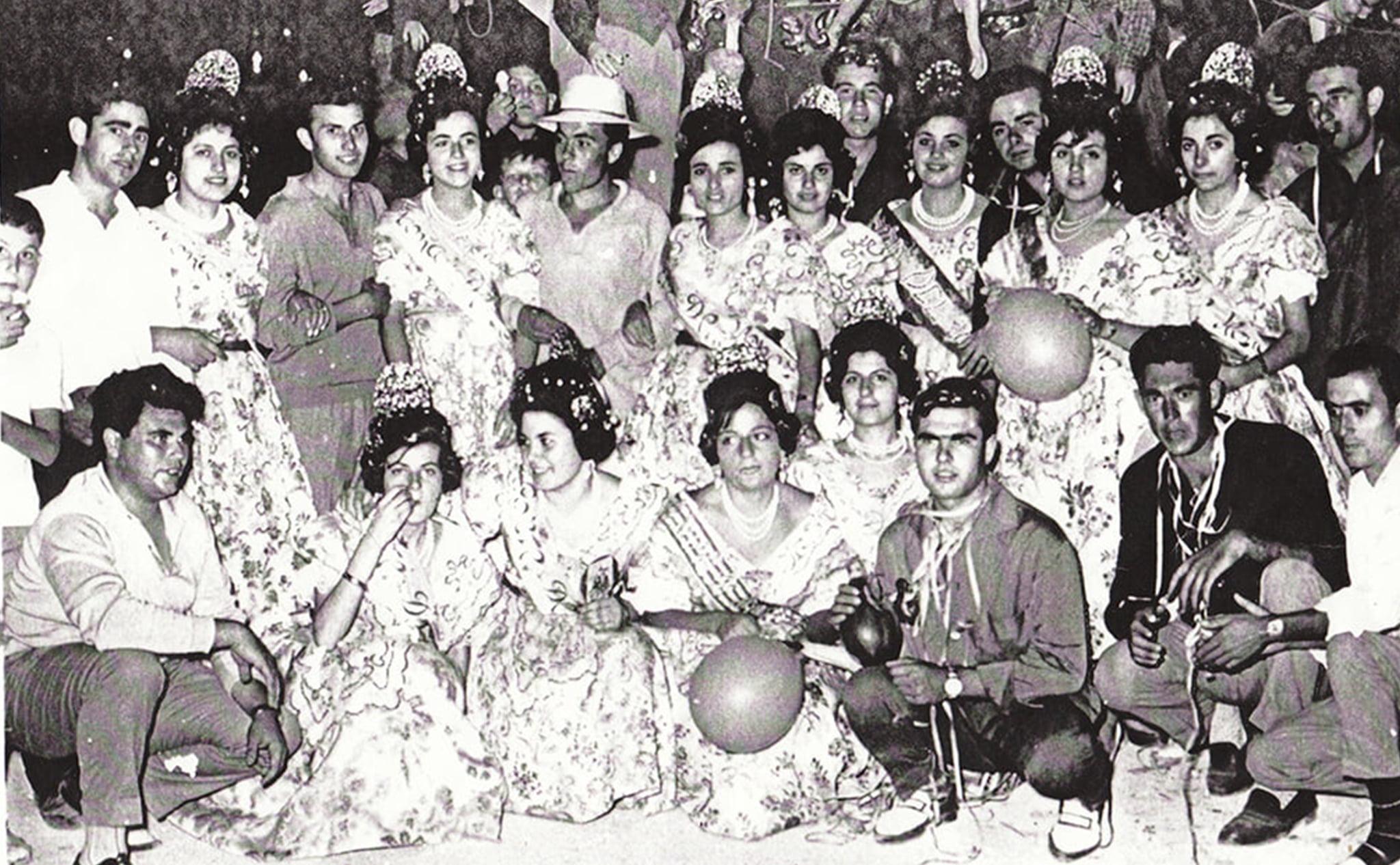 Hogueras de San Juan en Jávea en 1962