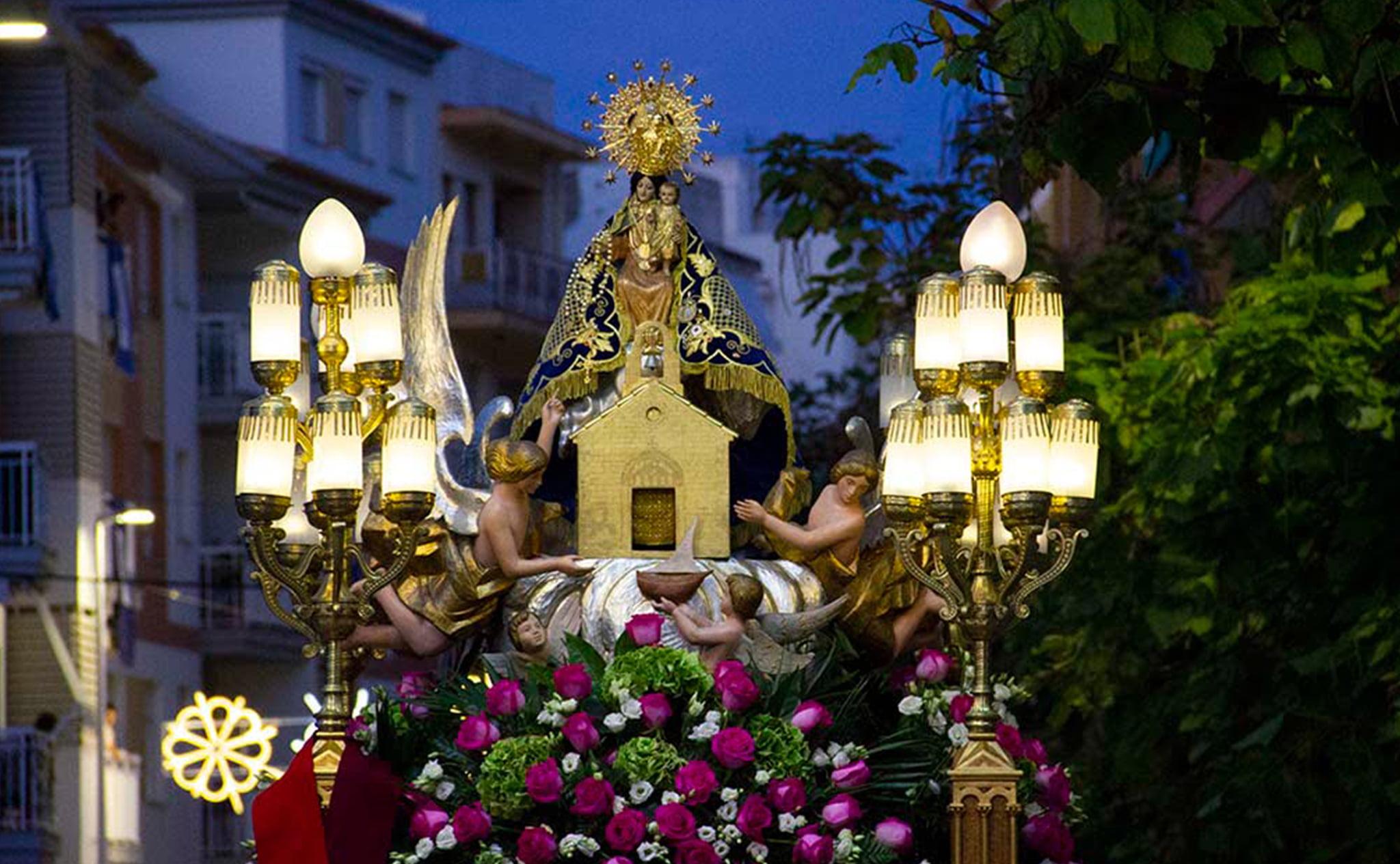 Imagen de la procesión de la Mare de Déu de Loreto de Jávea (Año 2019)