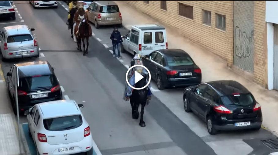 Los Reyes Magos por las calles de Xàbia