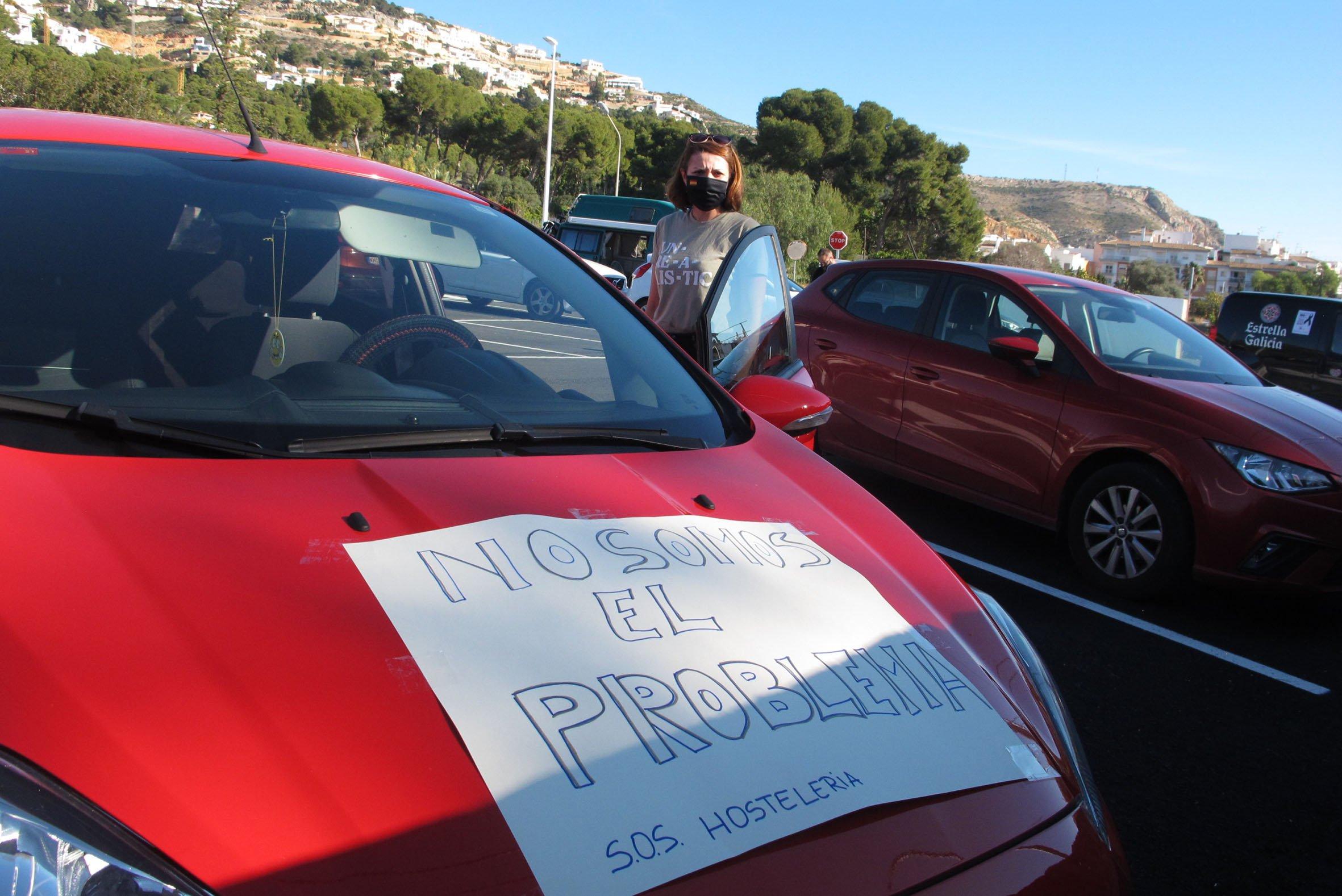 Manifestación de los hosteleros