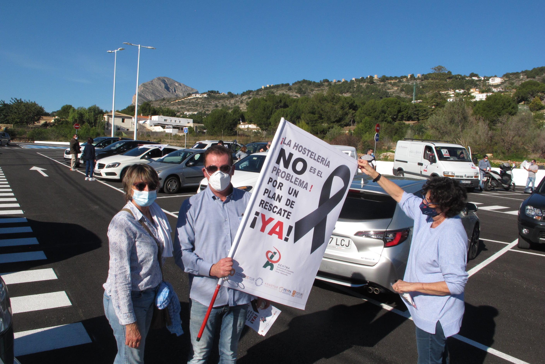 Manifestación en defensa de la hostelería