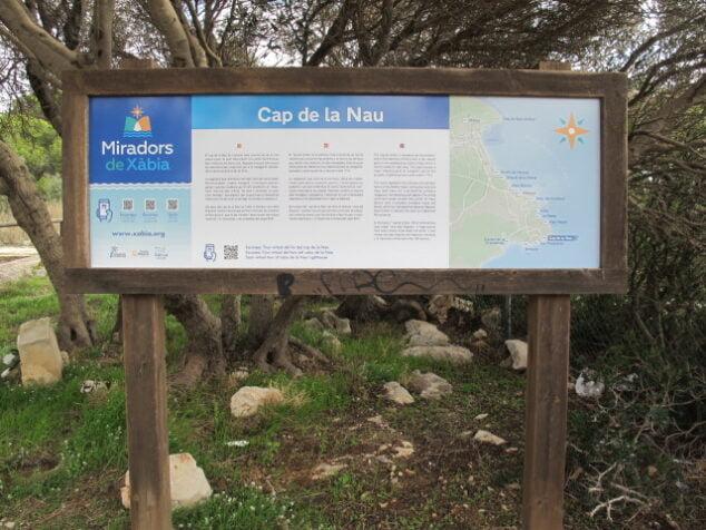 Imagen: Nueva señalética en el Mirador del Cabo de la Nao