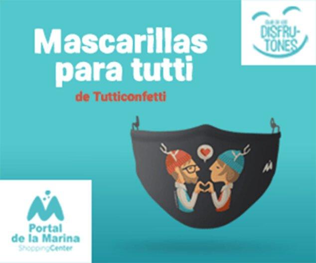 Imagen: Mascarillas de la artista Tutticonfetti - Portal de la Marina