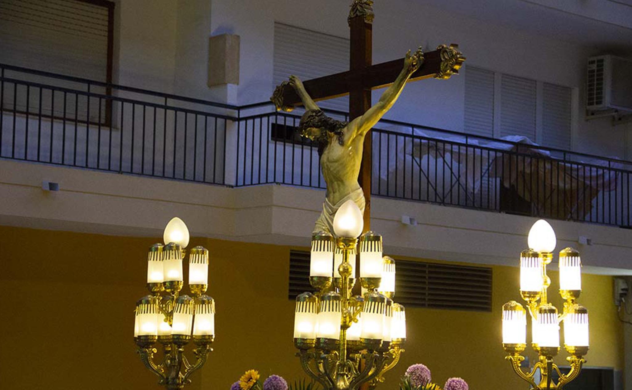 Detalle del paso de la procesión del Santísimo Cristo del Mar de Xàbia