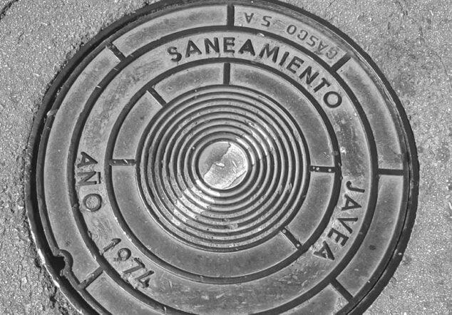Imagen: Red de saneamiento de Xàbia
