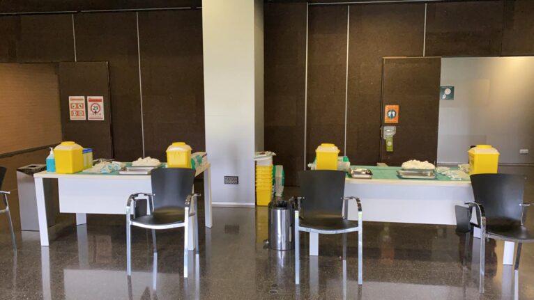 Sala de vacunación para el personal sanitario