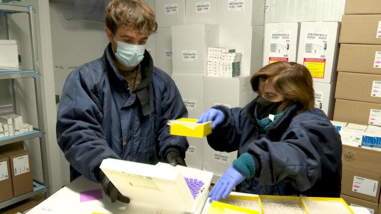 Traslado de vacunas Pfizer en la Comunitat Valenciana