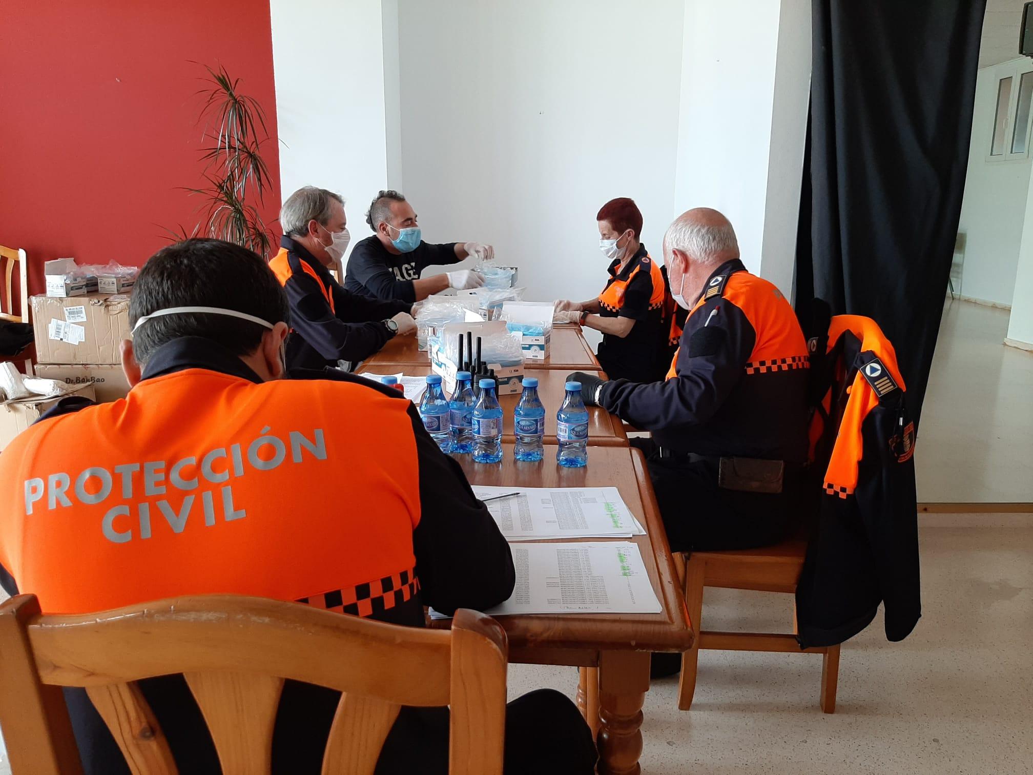 Voluntarios de Protección Civil de Benitatxell
