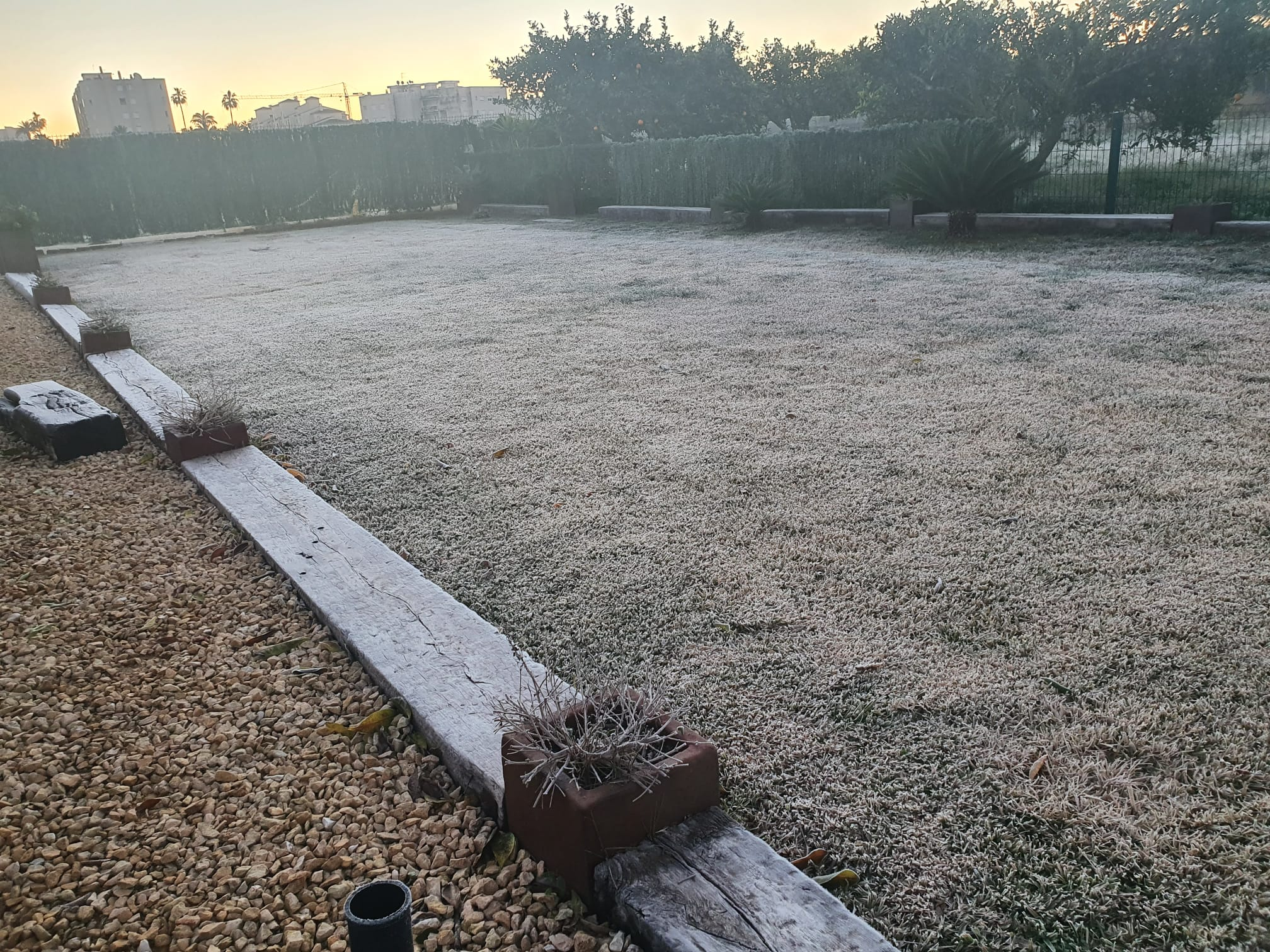 Xàbia registra temperaturas bajo 0