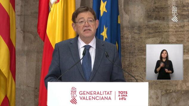Imagen: Ximo Puig anuncia las nuevas medidas de la Comunitat Valenciana