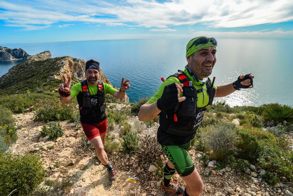 Atletas del Llebeig durante el Granadella Trail 2020