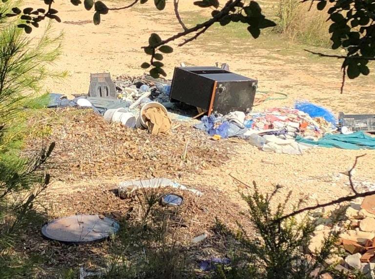 Cantidad de desperdicios en la parcela privada