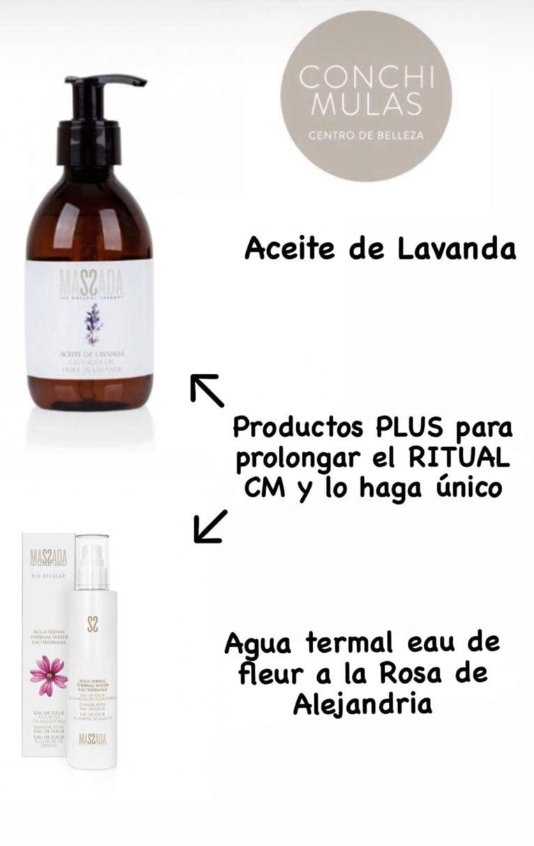 Productos para prolongar el ritual CM - Centro de Estética Conchi Mulas