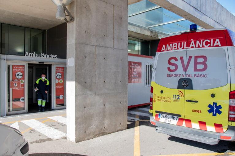 Entrada a Urgencias del Hospital de Dénia