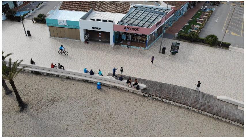 Imagen del Paseo del Arenal tomada con el dron